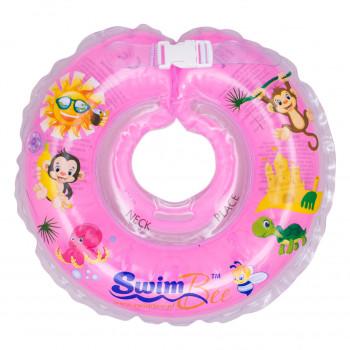 Круг для купания SwimBee 1111-SB-06, розового цвета