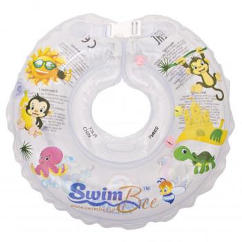 Круг для купания SwimBee 1111-SB-05, Прозрачный, белого цвета