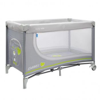 Манеж - кровать Baby Mix HR-8052 Мишка 8052-195, dark grey, темно серый