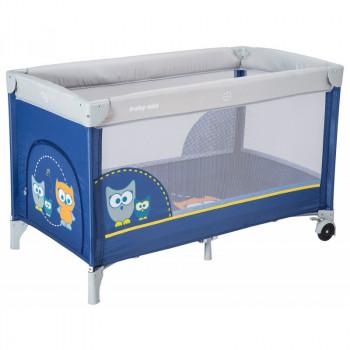 Манеж - кроватка Baby Mix HR-8052 Сова 8052-173, navy, синий