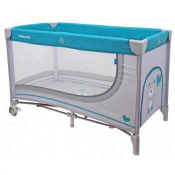 Манеж - кровать Baby Mix HR-8052 Мишка 8052-192, grey, серый