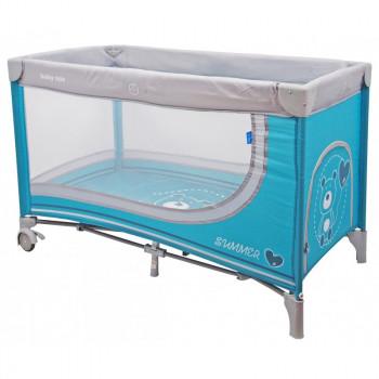 Манеж - кровать Baby Mix HR-8052 Мишка 8052-194, blue, синий