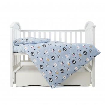 Сменная постель 3 эл Twins Zoo 3022-TZ-04, blue, голубой