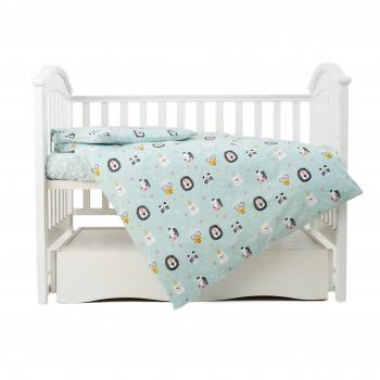 Сменная постель 3 эл Twins Zoo 3022-TZ-14, mint, мятный