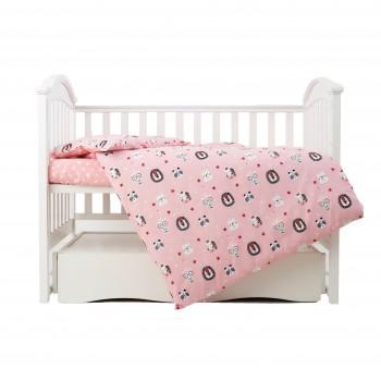Сменная постель 3 эл Twins Zoo 3022-TZ-08, pink, розовый