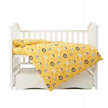 Сменная постель 3 эл Twins Zoo 3022-TZ-05, yellow, желтый