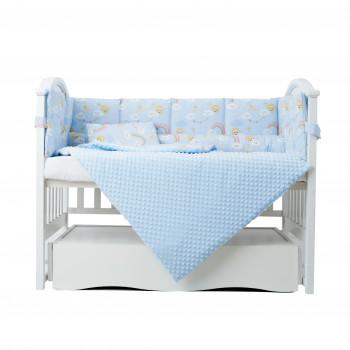 Постельный комплект  6 эл Twins Sky 4060-TS-04, blue, голубой