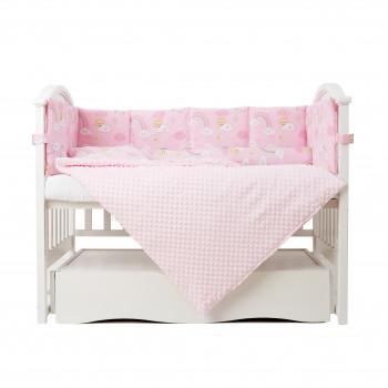 Постельный комплект 6 эл Twins Sky 4060-TS-08, pink, розовый