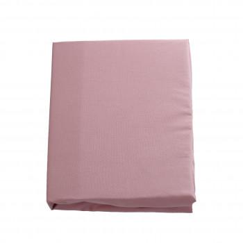 Простыня на резинке Twins 120x60 бязь organic 6010-TO-24, powder pink, пудра