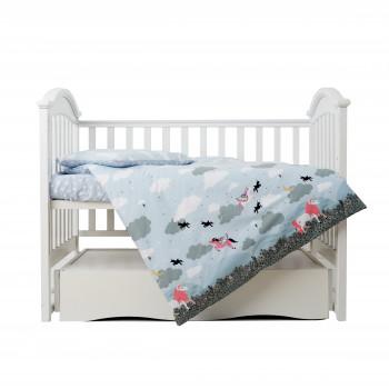 Сменная постель 3 эл Twins Unicorn  3021-TU-04, blue, голубой