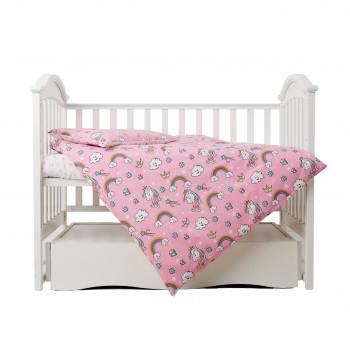 Сменная постель 3 эл Twins Unicorn  3021-TU-08, pink, розовый