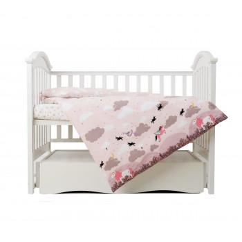 Сменная постель 3 эл Twins Unicorn  3021-TU-24, powder pink, пудра