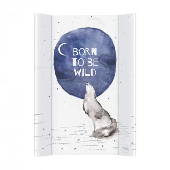 Пеленальная доска Cebababy 50x70 Watercolor Word W-200-123-649, Born to be wild, белый