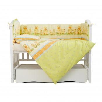 Постельный комплект 4 эл Twins Comfort бампер + сменка 4052-C-027, Утята зеленые, салатовый