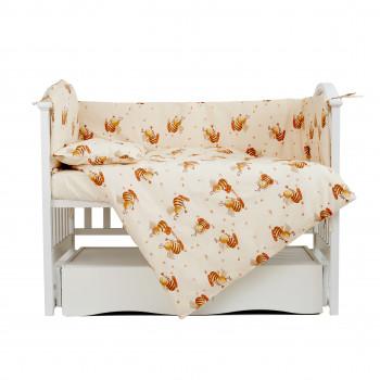 Постельный комплект 4 эл Twins Comfort бампер + сменка 4052-C-031, Пчелки, бежевый