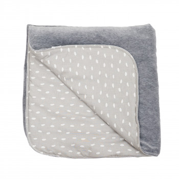 Плед Twins Happy 90х90 1433-TH-10, grey, серый