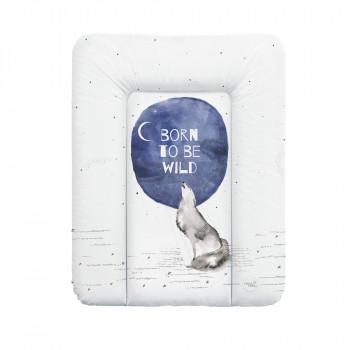 Пеленальный матрас Cebababy 50x70 Watercolor World  W-143-123-649, Born to be wild, белый