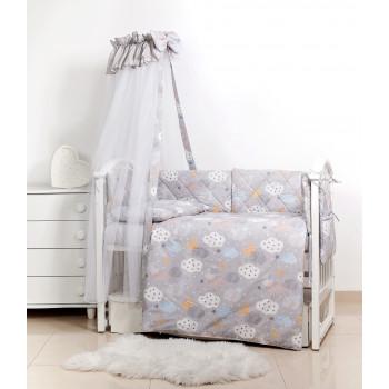 Сменная постель 3 эл Twins Premium Glamour Limited 3064-PGNEWC-101, Clouds grey, светло серый