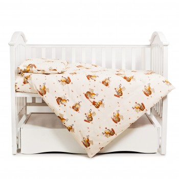 Бампер Twins Comfort 2051-C-031, Пчелки, бежевый