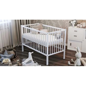 Кровать Дубок Малютка без ящика 9801-DM-01, белого цвета