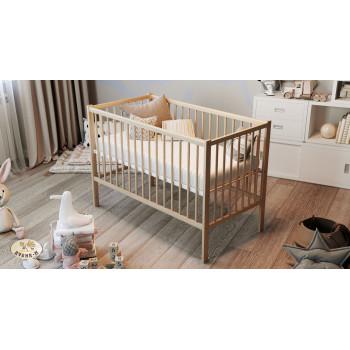 Кровать Дубок Малютка без ящика 9801-DM-02, натуральный, бежевый