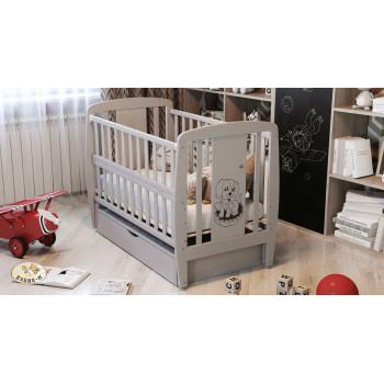 Кровать Дубок Собачка с ящиком 9800-DD-10, серого цвета