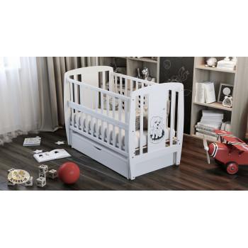 Кровать Дубок Собачка с ящиком 9800-DD-01, белого цвета
