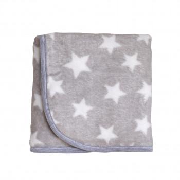 Плед Twins велюр Star 80х104 1409-TVS-10, grey, серый