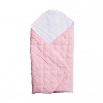 Конверт - плед Twins Velvet стеганый 75х75 9025-TVC-08, pink, розовый