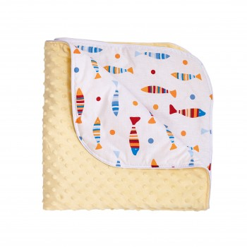 Плед Twins Minky Spring 80x80 1461-TMS-05, yellow, желтый