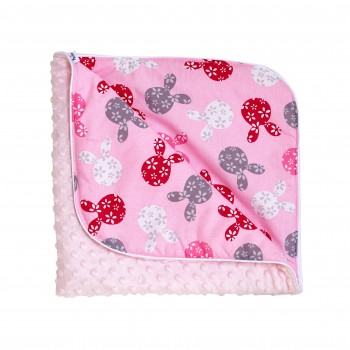 Плед Twins Minky Spring 80x80 1461-TMS-08, pink, розовый