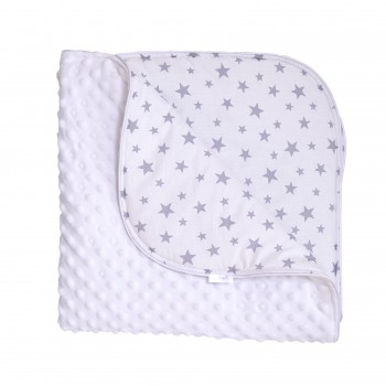 Плед Twins Minky Spring 80x80 1461-TMS-01, white, белый