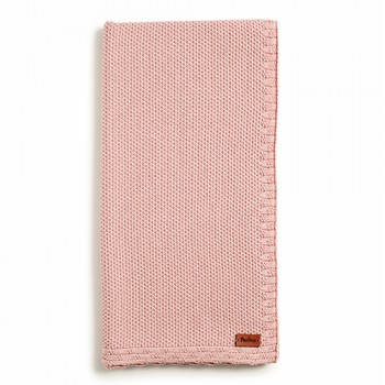 Плед Twins трикотаж 80x80 Dream 1406-TTD-24, powder pink, розовый дым