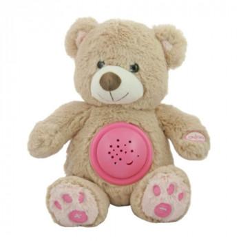 Музыкальный Мишка Hadi Baby Mix STK-18956 с проектором STK-18956 pink, pink, розовый