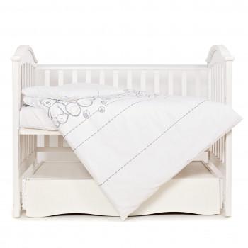 Сменная постель 3 эл Twins Eco Line 3090-E-025, Teddy Bears, белый/серый
