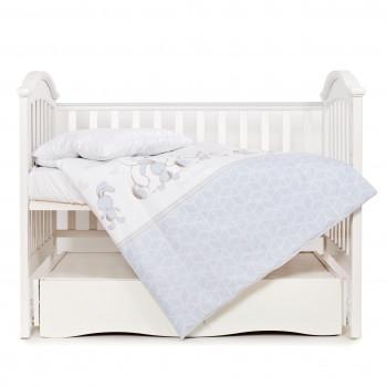 Сменная постель 3 эл Twins Eco Line 3090-E-026, Best friend grey, белый/серый