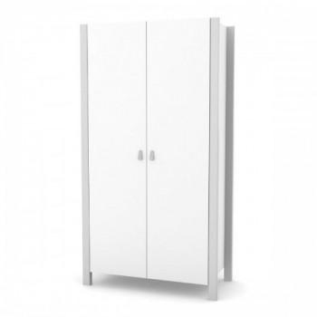 Шкаф Верес Монако 960 39.6.2.17, бело / серый, белый / серый