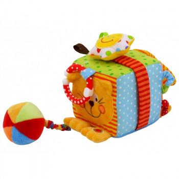 Мягкий Кубик Baby Mix TE-8561-10 TE-8561-10C, Котик, мультиколир