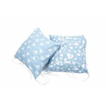 Бампер - подушка Twins Лесные жители (2 шт) 2027-63-04, Лесные жители blue, голубой