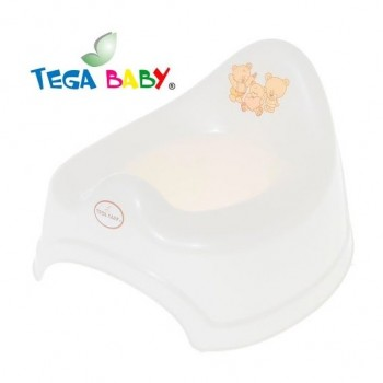 Горшок Tega MS-001 Мишка без музыки MS-001-118, white perla, белый