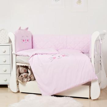 Постельный комплект 6 эл Twins EVO Miu 4073-EVK-08 pink, розовый