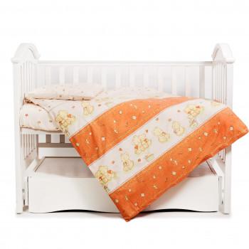 Сменная постель 3 эл Twins Comfort 3051-C-018, Мишки со звездой терракотовые, терракотовый