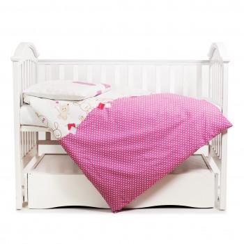 Сменная постель 3 эл Twins Comfort 3051-C-019, Горошки розовые, розовый