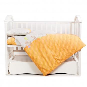 Сменная постель 3 эл Twins Comfort 3051-C-021, Горошки оранжевые, оранжевый