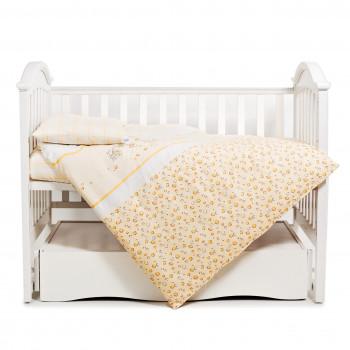 Сменная постель 3 эл Twins Comfort 3051-C-023, Зайчики с полосками, желтый