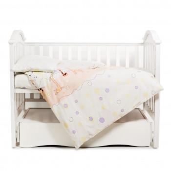 Сменная постель 3 эл Twins Comfort 3051-C-024, Жирафки беж / фиолет, бежевый