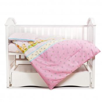 Сменная постель 3 эл Twins Comfort 3051-C-026, Утята розовые, розовый