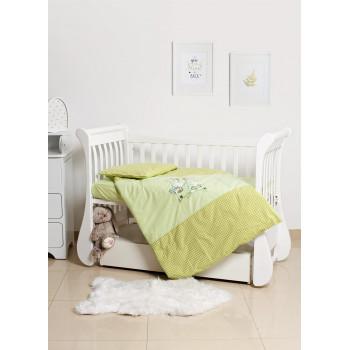 Сменная постель 3 эл Twins Limited 3099-TL-005, Dog & cat green, зеленый