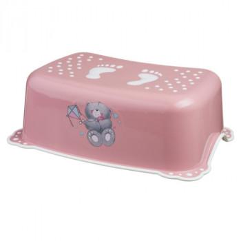 Подножка Maltex Bears 2K 4095 pink / white, розовый / белый