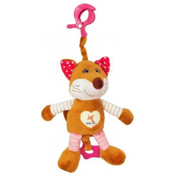 Плюшевая подвеска музыкальная Baby Mix STK-17508 ноября STK-17508P, pink, розовый